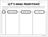 """Let's Make Predictions!"" Double-Sided Graphic Organizer for Critical Reading"