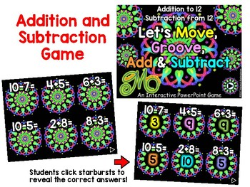 """Let's Move and Groove"" math games – 3 Interactive PowerPoint games"