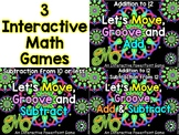 """""""Let's Move and Groove"""" math games – 3 Interactive PowerPo"""