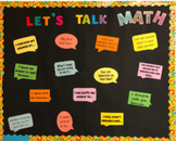 """""""Let's Talk Math..."""" Bulletin Board"""