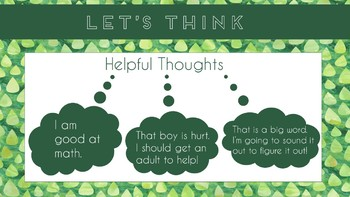 """Let's Think"" A PowerPoint Presentation on Thoughts, Feelings and Actions"