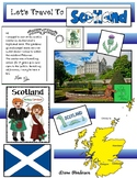 """""""Let's Travel To SCOTLAND!"""" For """"Travels Around The World"""" Packet"""