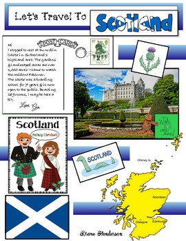 """Let's Travel To SCOTLAND!"" For ""Travels Around The World"" Packet"