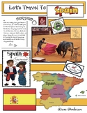 """""""Let's Travel to Spain!"""" For Travels Around the World Packet"""