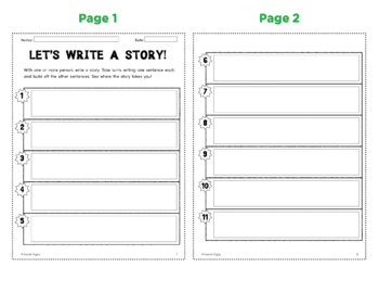 """""""Let's Write A Story"""" Partner/Small-Group Writing Activity"""