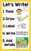'Let's Write!' Writing Center Poster