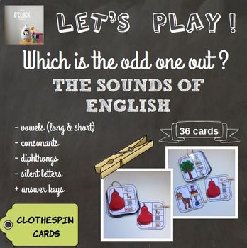 [Let's play ! ] The sounds of English - clothespin cards