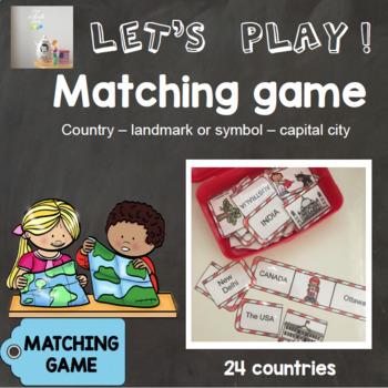 [Let's play ! ] Matching game : Country - landmark/symbol - capital city