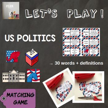 [Let's play !] Matching game : US politics vocabulary