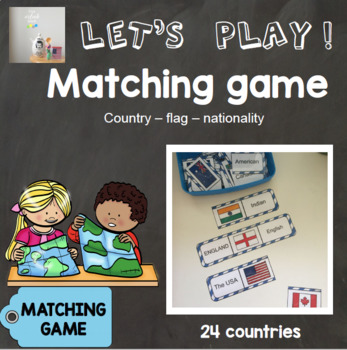 [Let's play ! ] Matching game : country - flag - nationality