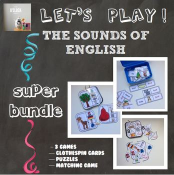 {SUPER BUNDLE} - [Let's play ! ] The Sounds of English