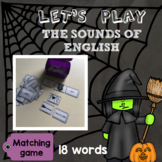 [Let's play] The sounds of English - Matching game : Halloween special