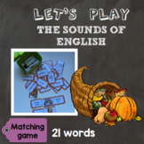 [Let's play] The sounds of English - Matching game : Thanksgiving special