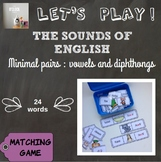[Let's play ! ] The sounds of English - matching games : v