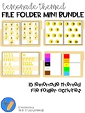 Lemonade Themed File Folders | Alpha Skills, Beginner Math