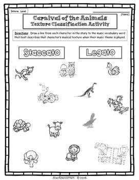 FREEBIE SAMPLER Carnival of Animals Activity Packet