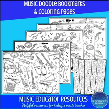 Music Doodle Bookmarks