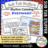 Sub Tub - Rhythm Coloring: Patriotic - Color by Note - mul
