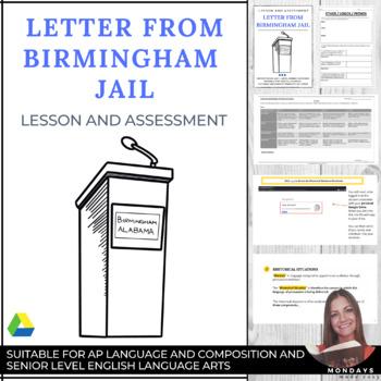 """Letter From Birmingham Jail"" Rhetorical Analysis Assignment"