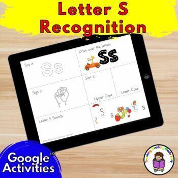 Letter S Distance Learning Google Classroom Digital Activities for Kindergarten