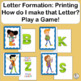 The Letter Formation guide provides handwriting instructio