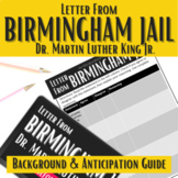 """Letter from Birmingham Jail"" Background and Anticipation Guide"