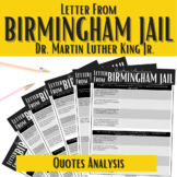 """""""Letter from Birmingham Jail"""" Quotes Analysis 