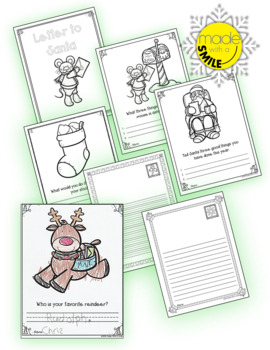"""Letter to Santa"" Activities Bundle"