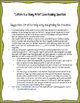 """Letters to a Young Artist"" Close Reading Worksheet for Co"