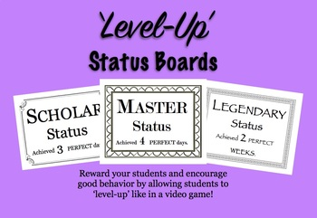 'Level-Up' Status Boards