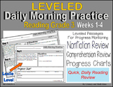 (Leveled) Daily Morning Practice (Reading Grade 3) Weeks 1-4
