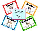 (Library) Center Signs - Chevron