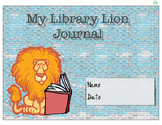 """Library Lion"" Journal Cover and Pages"