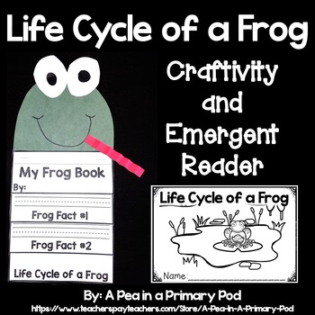 """""""Life Cycle of a Frog"""" (A Spring Emergent Craftivity and Reader Dollar Deal)"""