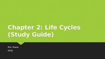 """Life Cycles"" Chapter 2 Powerpoint Harcourt Science Textbook"