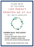 """Life Doesn't Frighten Me At All"" Short Answer Response"