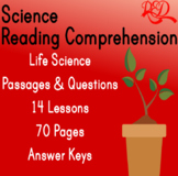 ⭐Life Science Reading Comprehension Passages and Questions | Bundle | Gr3-4