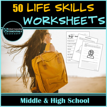 """Life Skills"" Mega Bundle of 35 worksheets for Teens in Middle and High School"