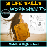"""Life Skills"" Mega Bundle of 44 worksheets for Teens in Mi"