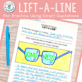 """Lift-a-Line"" Reading Strategy Response Sheet (Benchmark Advance)"