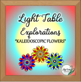 """**Light Table Explorations- """"Kaleidoscopic Flowers"""" by LilyVale Learning"""
