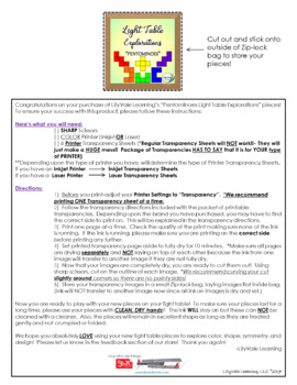 """Light Table Explorations-RAINBOW PENTOMINOES"" by LilyVale Learning"