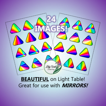 """""""Light Table Explorations- RAINBOW TRIANGLES"""" by LilyVale Learning"""