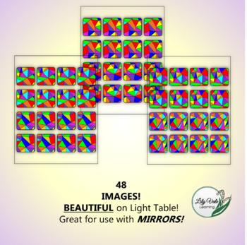 """""""Light Table Explorations-STAINED GLASS SQUARES"""" by LilyVale Learning"""