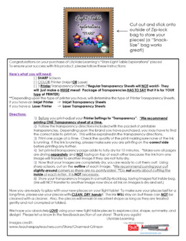 """*Light Table Explorations """"STARS"""" from LilyVale Learning"""