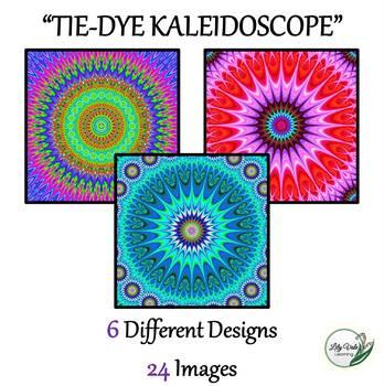 "**Light Table Explorations:""TIE-DYE KALEIDOSCOPE"" by LilyVale Learning"