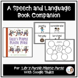 """Lilly's Purple Plastic Purse"" A Back-to-School Speech Therapy Book Companion"