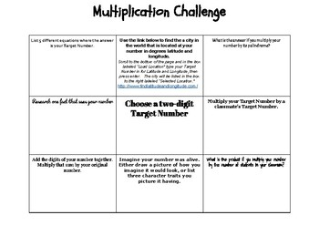 """List 5"" - A Two-Digit Multiplication Independent Enrichment Activity"