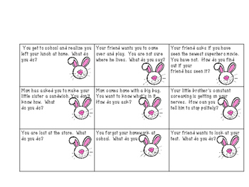 """""""Little Bunny's Social Skills Egg Hunt"""""""