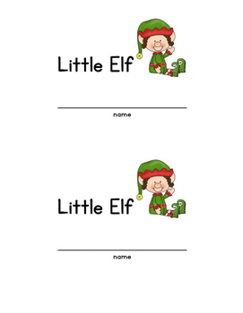 """Little Elf"" printable book"